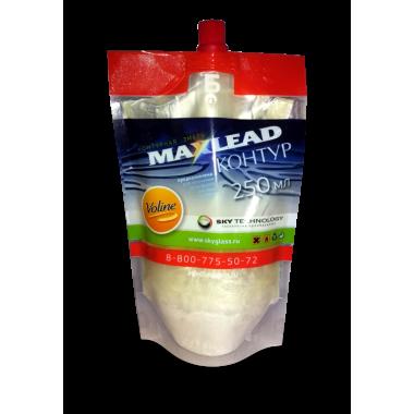 """Контурная эмаль Maxlead Lux белый перламутр """"Контур Б отвердитель"""" (0,25 литра)"""