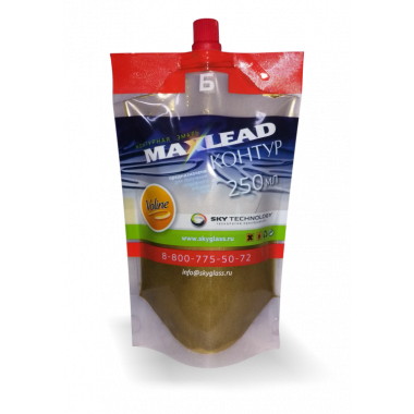"""Контурная эмаль Maxlead Lux золото """"Контур Б отвердитель"""" (0,25 литра)"""