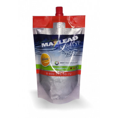"""Контурная эмаль Maxlead Lux серебро """"Контур Б отвердитель"""" (0,25 литра)"""